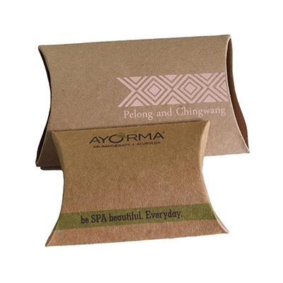 Custom Kraft Paper Gift Pillow Boxes