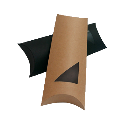 Custom Window Pillow Packaging Boxes