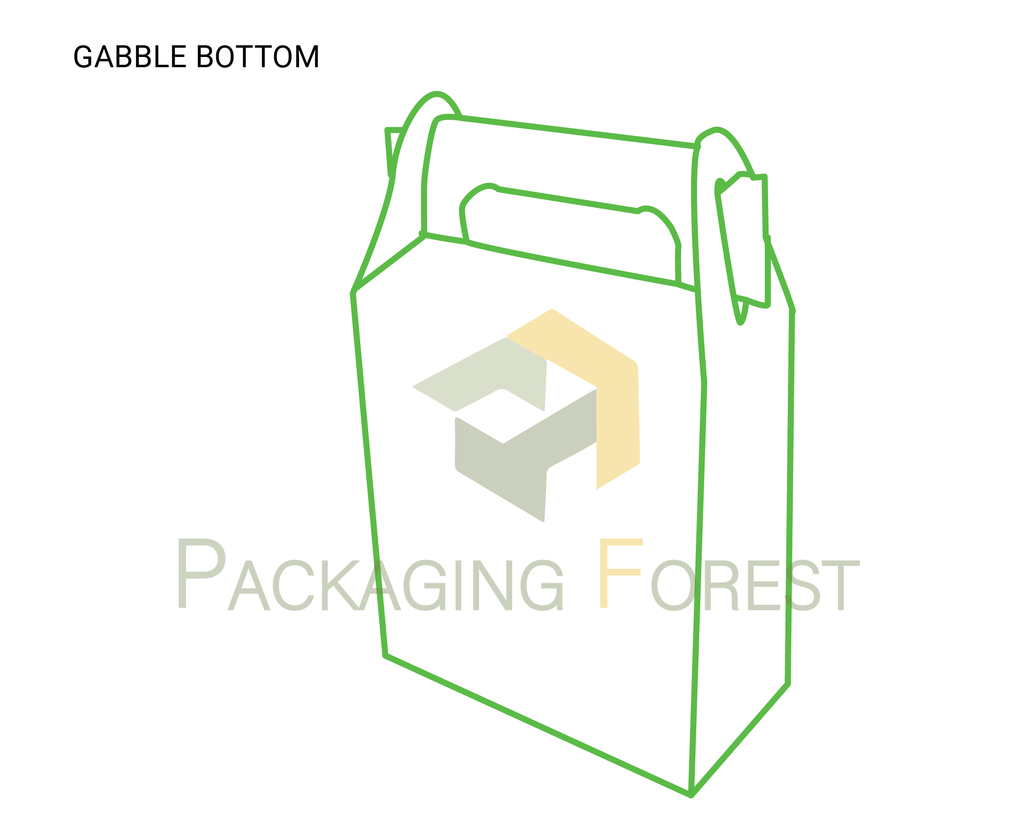 Custom Gable Bottom Packaging Box Template