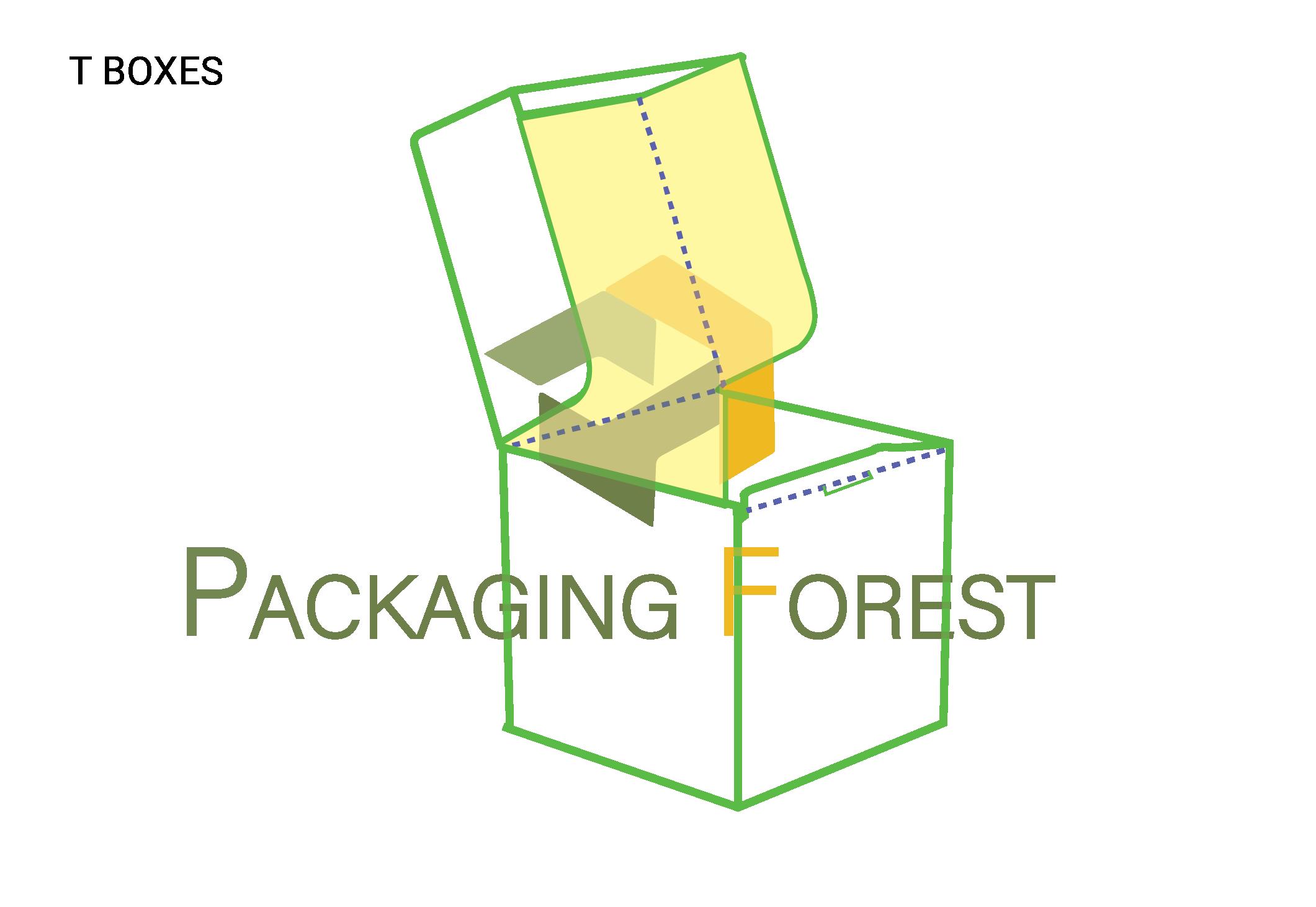 Custom T Packaging Box Template